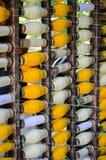 Bobines industrielles de coton pour le tissage Photo stock