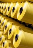 Bobines jaunes réglées Photo stock