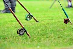 Bobines pour la pêche de mouche Image libre de droits