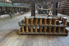 Bobines sur le plancher de l'usine Photo libre de droits