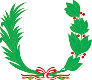 Bobka i drzewka palmowego gałąź ilustracji