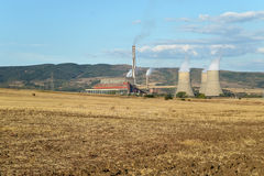 Bobobv Dol thermal power station, Bulgaria Royalty Free Stock Images