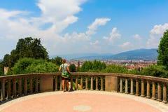 Boboli庭院在佛罗伦萨,托斯卡纳,意大利 免版税图库摄影
