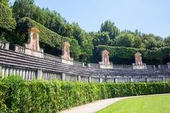 Boboli庭院在佛罗伦萨,托斯卡纳,意大利 库存照片