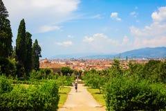 Boboli庭院在佛罗伦萨,托斯卡纳,意大利 免版税库存照片