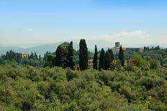从Boboli庭院的看法在佛罗伦萨托斯卡纳 库存图片