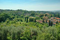 从Boboli庭院的看法在佛罗伦萨托斯卡纳 免版税库存图片
