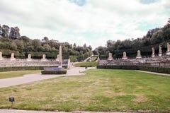 Boboli garden and Pitti Palace royalty free stock photo