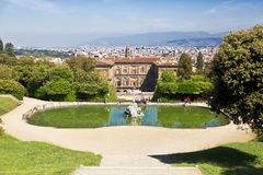 The Boboli gardens in Florence Royalty Free Stock Images