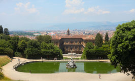 Boboli gardens landscape. Florence, Tuscany, Italy Stock Photography