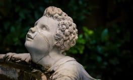 Boboli gardens statue florence. Male statue on a fountain in boboli gardens in florence Stock Photos