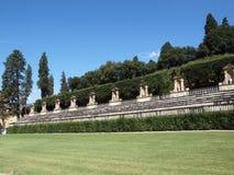 Boboli jardina Amphitheatre - Florença fotografia de stock