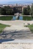 Boboli trädgård i Florence Arkivfoton