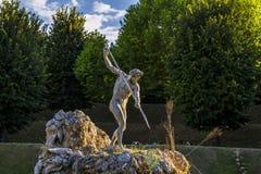 Boboli trädgård i Florence, neptune springbrunn italy Arkivbild