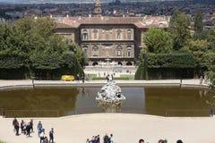 Boboli trädgårdar - Florence, Tuscany, Italien arkivfoton