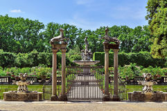 Boboli trädgårdspringbrunn royaltyfri bild
