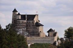 bobolice城堡波兰 图库摄影