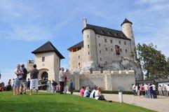 bobolice城堡波兰 免版税库存照片