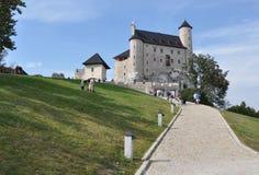 bobolice城堡波兰 免版税图库摄影