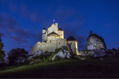 Bobolice Castle. In the Jura Poland Stock Photo