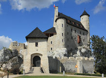 Bobolice castle, Poland. Bobolice castle - old fortress in Poland. Landmark in Europe Stock Photos