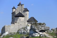 Bobolice castle, Poland. Royalty Free Stock Images