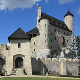 Bobolice castle, Poland. Bobolice castle - old fortress in Poland. Landmark in Europe. Square composition Stock Images