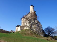 Bobolice Castle. Polish medieval fortified castle Bobolice the Cracow Czestochowa Jura Stock Image