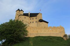 Bobolice castle ruins poland. Royalty Free Stock Photos