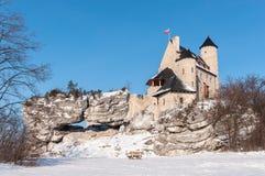 The Bobolice Castle in winter Stock Photo