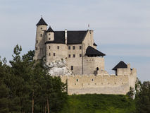 Bobolice knight's castle in Jura Cracow Czestochowa Stock Photos