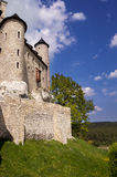 Bobolice. Medieval castle in Bobolice, Poland Stock Photos