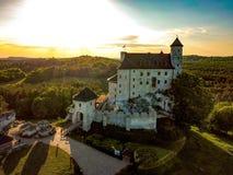 Bobolice polaco del castillo foto de archivo