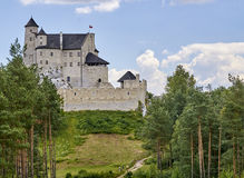 BOBOLICE, POLAND - JULY 16, 2017: Medieval castle in Bobolice on Royalty Free Stock Photo