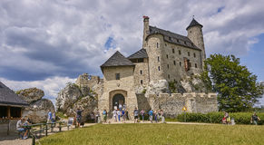 BOBOLICE, POLAND - JULY 16, 2017: Medieval castle in Bobolice on Stock Photo