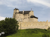 Bobolice riddares slott i Jura Cracow Czestochowa Royaltyfria Foton