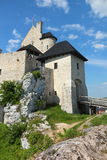 The Bobolice royal Castle. Gate to stone fortress Bobolice in Poland Stock Photos