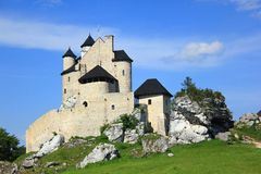 The Bobolice royal Castle. Made from white stone fortress Bobolice in Poland Stock Images