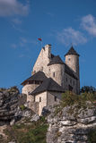 Bobolice slott Arkivfoton
