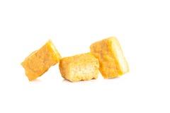 Bobowego curd tofu nad białym tłem fotografia stock