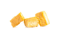 Bobowego curd tofu nad białym tłem zdjęcia stock