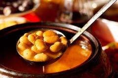 bobowy karmowy grecki zupny tradycyjny Zdjęcie Stock