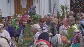 Bobruisk Białoruś, Kwiecień, - 21, 2019: Chrześcijański Chrześcijański wakacje jest Palmowy Niedziela który świętuje tydzień prze zbiory wideo