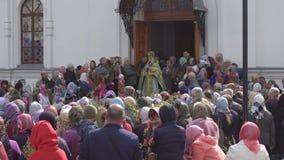 Bobruisk Białoruś, Kwiecień, - 21, 2019: Chrześcijański Chrześcijański wakacje jest Palmowy Niedziela który świętuje tydzień prze zdjęcie wideo