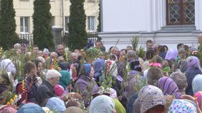 Bobruisk Białoruś, Kwiecień, - 21, 2019: Chrześcijański Chrześcijański wakacje jest Palmowy Niedziela który świętuje tydzień prze zbiory