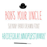 Bobs Your Uncle Font Symbol-Pictogram Royalty-vrije Stock Foto