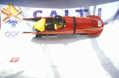 Bobsled exhibit at 2002 Winter Olympics, Salt Lake City, UT Stock Images