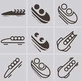 Bobsled icons Stock Photo