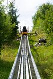 Bobsled kolejki górskiej tobogan w letnim dniu, Rittisberg, Austriaccy Alps Obrazy Royalty Free