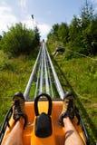 Bobsled kolejki górskiej tobogan w letnim dniu, Rittisberg, Austriaccy Alps Fotografia Stock
